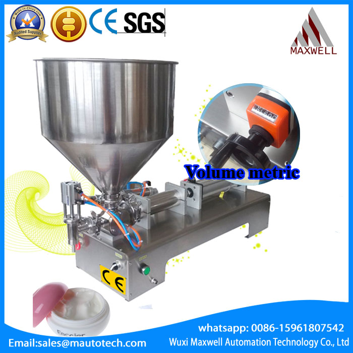 stainless steel horizontal pneumatic paste automatic filling machine,high viscosity paste filling machine ( 0-1000ml) high quality pneumatic paste