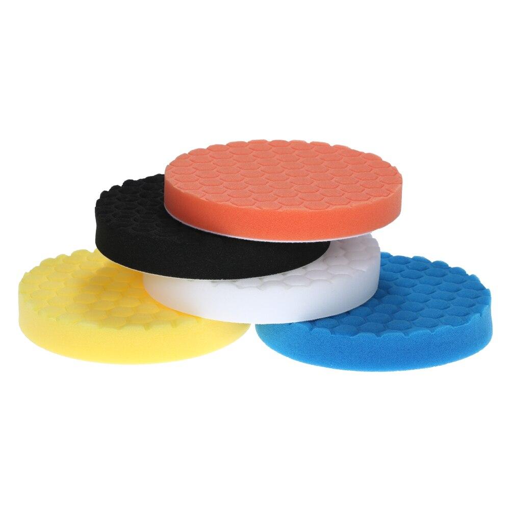 10 Pieces Set Gross Polishing Buffer Pad Set Buffing Pad: 5PCS Car Polishing Pads Waxing Buffing Pad Sponge Kit Set