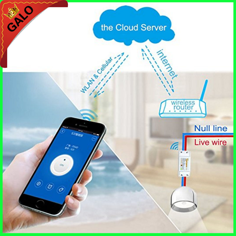 Wifi Switch,Universal Smart Home Automation Module Timer Diy Wireless Switch, Remote Controller Via IOS Android 10A/2200W new xiaolei wifi remote smart home automation wifi ir rf universal intelligent remote control for iphone ios android ltech