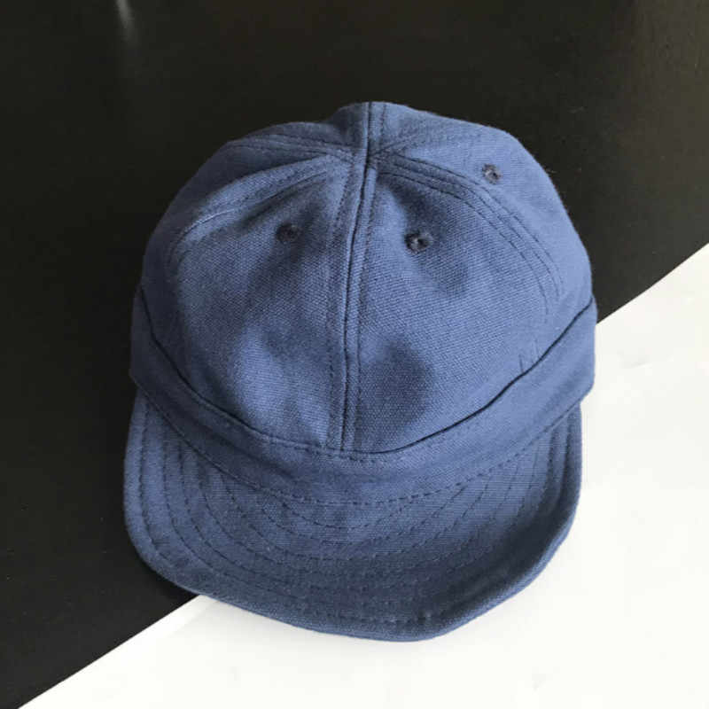 ... Short Brim Baseball Cap For Women Men Snapback Fitted Cap Washed Cotton  Solid Family Soft Brim ... 4f8628d7aec
