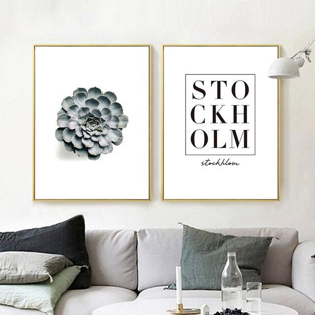 HAOCHU Moderne Minimalistische Vetplant Muur Foto Woondecoratie ...