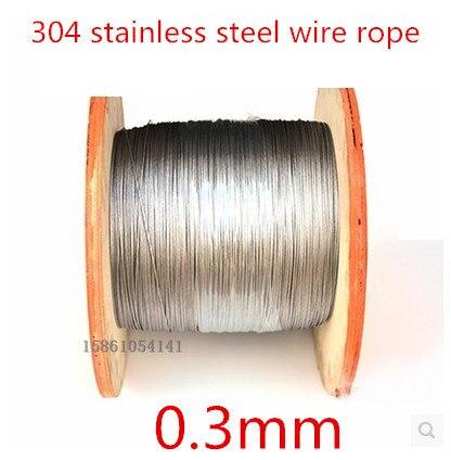 0,3 мм проволочная веревка из нержавеющей стали 304/рыболовная веревка/сверхтонкая проволока/плетеная веревка 0,3 мм 1*7 100 метра