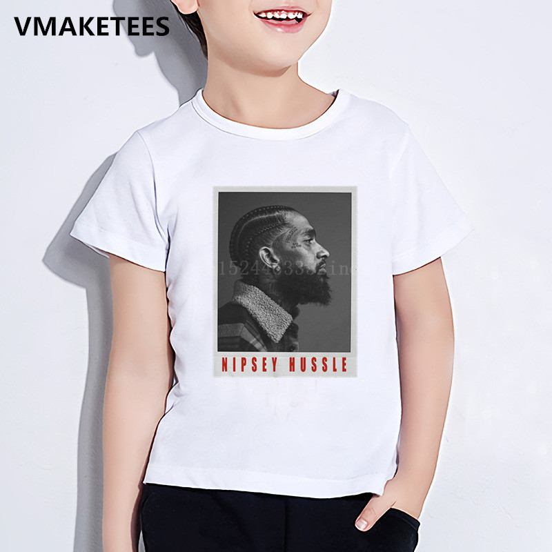 Fine Kids Summer Short Sleeve Boys & Girls Tshirt Children Rapper Nipsey Hussle Print T-shirt Hip Hop Casual Baby Clothes,hkp5280 To Clear Out Annoyance And Quench Thirst