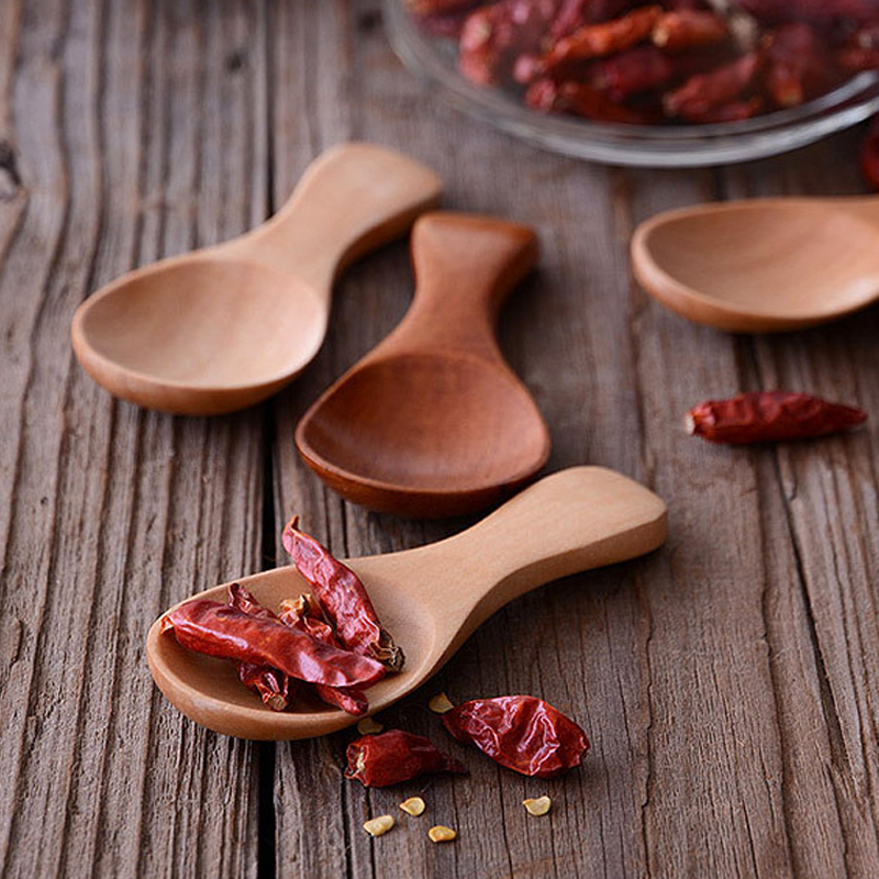Online Shop 4pcs Mini Wooden Spoon Small Kitchen Spoon Condiments Scoop  Sugar Spice Spoon Short Handle Wood Tea Coffee Scoop Wooden Utensils |  Aliexpress ...