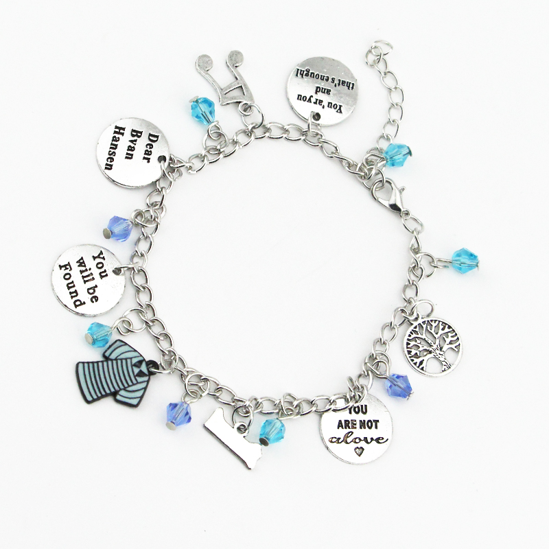 Dear Evan Hansen Inspired Hand-Stamp Bangle Bracelet You Will Be Found For Forever Jeweley for Women Girl