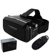 Original VR Shinecon Virtual Reality 3D Glasses Google Cardboard 2.0 VR Headset Helmet 3D VR Box Glasses For 3.5~6 Smart phone