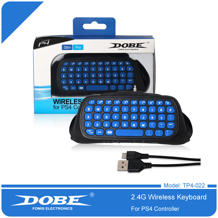 DOBE 2.4G Wireless Controller Keyboard For PS4 Slim Pro GamePad Brand Patented Mini External Keyboard KeyPad 022 цена