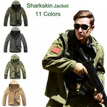 цена на High quality Lurker Shark skin Soft Shell  V 4.0 Outdoors Military Tactical Jacket Waterproof Windproof Sportin Army Clothing