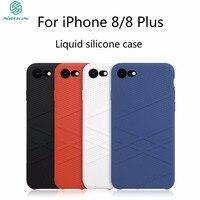 For Iphone 8 8 Plus Luxury Case Nillkin Flex Case Liquid Silicone Case For Iphone 8