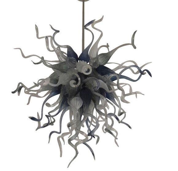 Modern Art Home Decor Chandeliers Graceful Blown Glass Long Chain LED Crystal Chandelier
