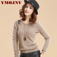 YMOJNV 2017 Autumn Winter Fashion New Cashmere Sweater Women High Quality Wool Sweater Warm Slim O