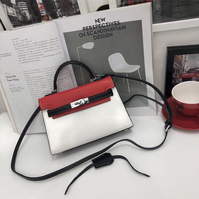 Damen pink Qualität Berühmte Taschen Schulter Tasche Handtaschen Designer Leder orange white Frauen Weibliche Umhängetaschen Echtes Hohe Marken Luxus Black vfq0wTRT