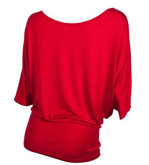Tops pomlad 2019 nova modna seksi rokava majica z izrezom O-vratu s - Ženska oblačila - Fotografija 3