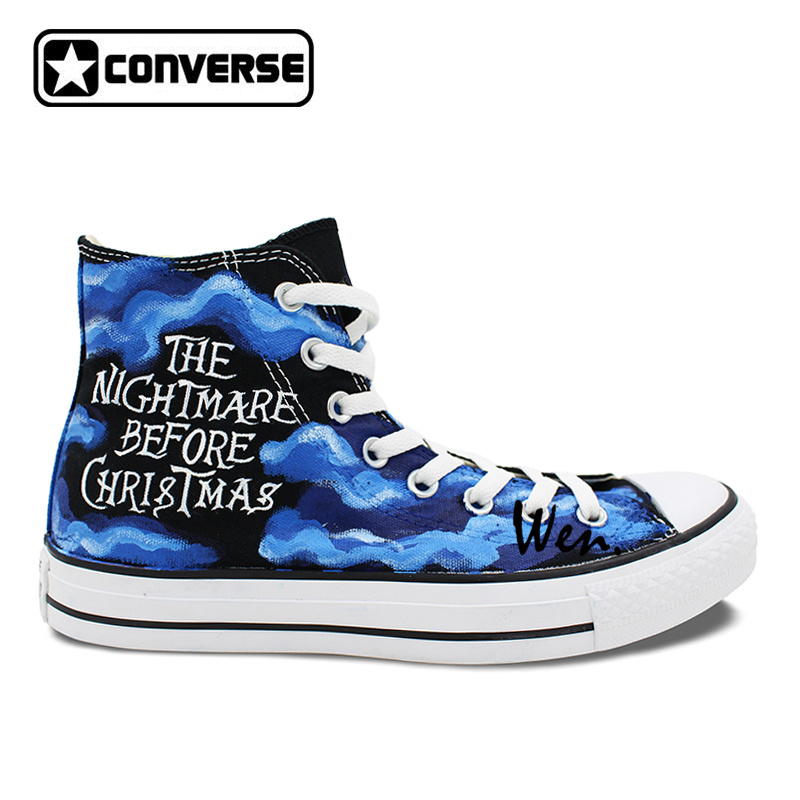 35a7bc290ba6 men womens converse all star hand painted shoes the nightmare before  christmas design high top canvas