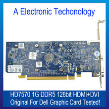 Original Graphic Card For DELL HD7570 DDR5 128 Bit HDMI+DVI 1G Display Video Card GPU Replacement Tested Working