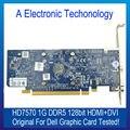 Placa Gráfica Para DELL Original HD7570 DDR5 128 Bits HDMI + DVI 1G Exibição Placa de Vídeo GPU Substituição Testado trabalhando