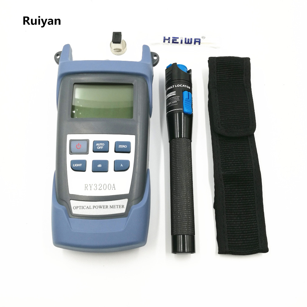 FTTH Optical Fiber Tool Kit RY-3200 High Accuracy Optical Power Meter FC / SC Connector + 1mw Visual Fault Locator  Cable Tester