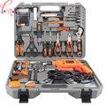 Электрический ремонтный набор для бытовых рабочих инструментов 100 шт. многофункциональные аппаратные инструменты коробка с дрелью 220 В 1 шт.