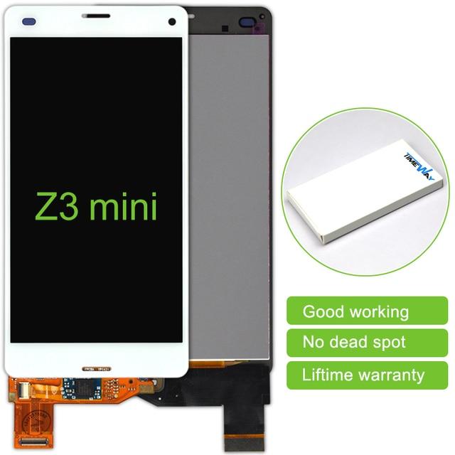 5.0 inch 5 stks Zwart/Wit Lcd-scherm Touch Screen Digitizer Zonder Frame montage Voor Sony Xperia Z3 Mini gratis Verzending
