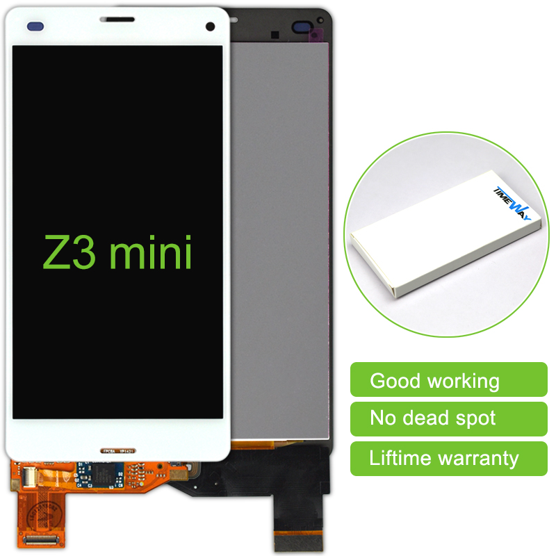 alibaba china 2 pcs Black/White LCD Display Touch Screen Digitizer Without Frame assembly For Sony Xperia Z3 Mini Free Shipping alibaba china 2 pcs black white lcd display touch screen digitizer without frame assembly for sony xperia z3 mini free shipping