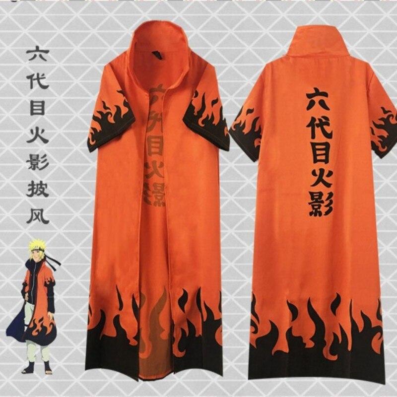 Japanese Anime NARUTO Uzumaki Cosplay Cloak Clothing Costume Hooded Cloak japanese ninja cosplay