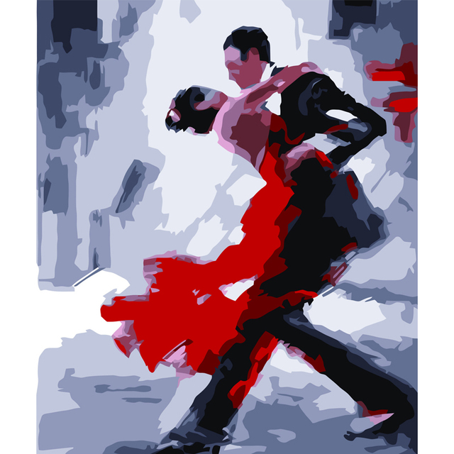 Haochu street couple dancing abstract oil painting diy digital haochu street couple dancing abstract oil painting diy digital painting by numbers acrylic picture wall poster malvernweather Image collections
