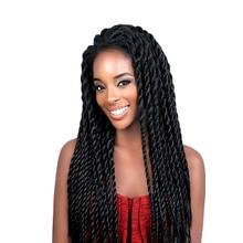 Feibin Lace Front Afro Twist Braided Wigs For Black Women Mambo Full Head Wig B33 цена 2017