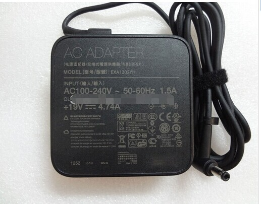 NEW Slim Original Genuine OEM 19V 4.74A 90W AC Adapter Supply Charger For ASUS ZENBOOK EXA1202YH PA-1900-42 ADP-90YD B original oem delta adp 330ab d 330w 19 5v 16 9a ac adapter for clevo terrans force x911 i7 4710mq 4700mq gaming laptop