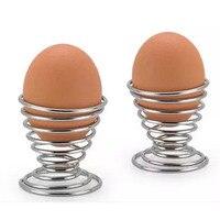 2020 neueste Küche Frühstück Hart Gekochtes Metall Ei Tasse Spirale Frühling Halter Ei Tasse-in Eierkocher aus Heim und Garten bei