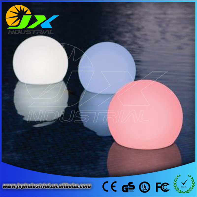 waterproof led rechargeable RGB floating pool ball 15CM with remote