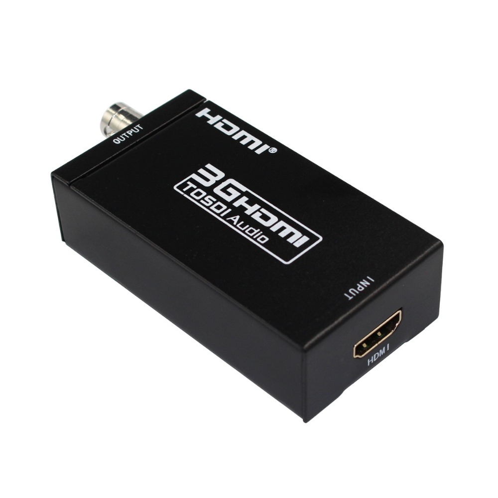 HDMI to SDI Audio Video Converter Adapter Supports 1080P HD HDMI Signal to BNC SD-SDI/HD-SDI/3G-SDI Signal for Home Theater