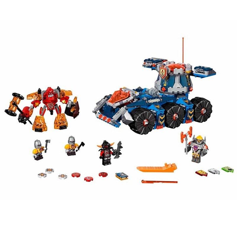 ФОТО New 14022 704Pcs Nexoe Knights Axl's Tower Carrier Model Building Kits  Blocks Bricks Toys For Children