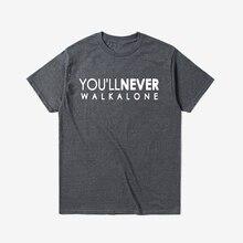 Tshirt Men T Shirt Streetwear Plus Size T-shirt Oversized You Will Never Walk Alone Liverpool Fans Top Tee XS-3XL