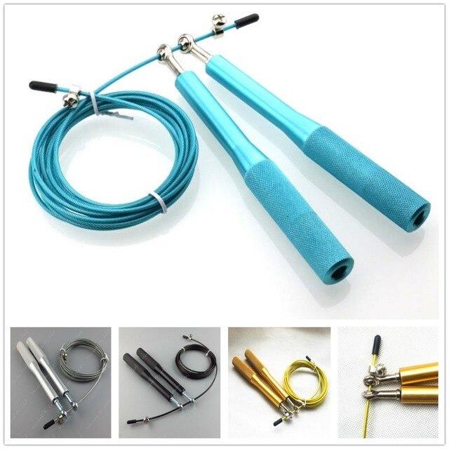 3M Steel Wire Skipping Skip Adjustable Jump Rope Fitness Cardio ...