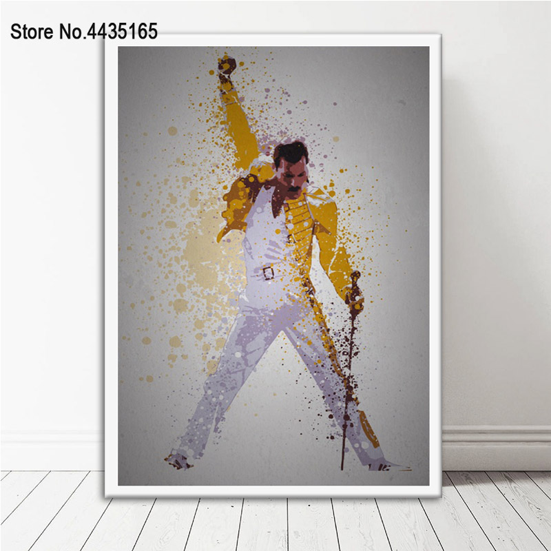 Posters And Prints Queen Freddie Mercury Bohemian Rhapsody Poster Decorative Canvas Painting Wall Art Picture Room Home Decor