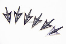 Longbowmaker 6PK Black Broadheads Hunting & Targeting Practice Arrowheads 100 Grain 5 cm NB2
