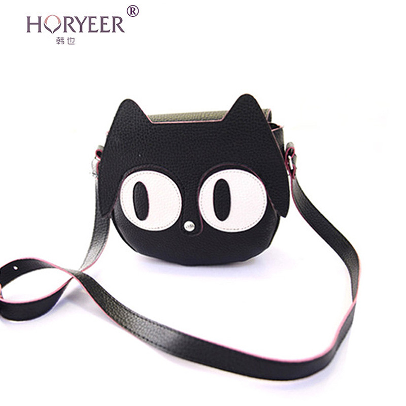 sac a main femme de marque kawaii kitty bag girls women cartoon leather lovely cat crossbody. Black Bedroom Furniture Sets. Home Design Ideas