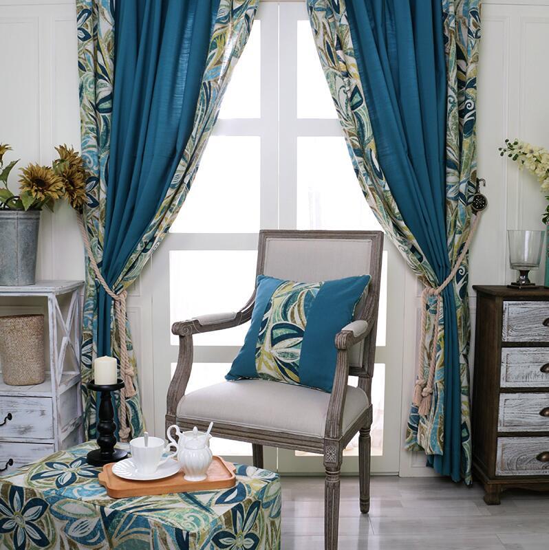 online kaufen großhandel vintage vorhänge vorhänge aus ... - Vintage Wohnzimmer Grun