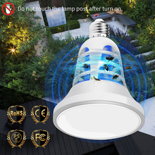 E27 Plant Grow Light LED Insect Killer Bulb 220V Full Spectrum Led Mosquito Trap Lamp 2 in 1 Indoor Lighting Flower Seedling 8W