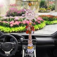 Автомобиль кулон цветной глазури Иисус крест украшения автомобилей интерьер зеркало заднего вида Подвески Аксессуары подарок