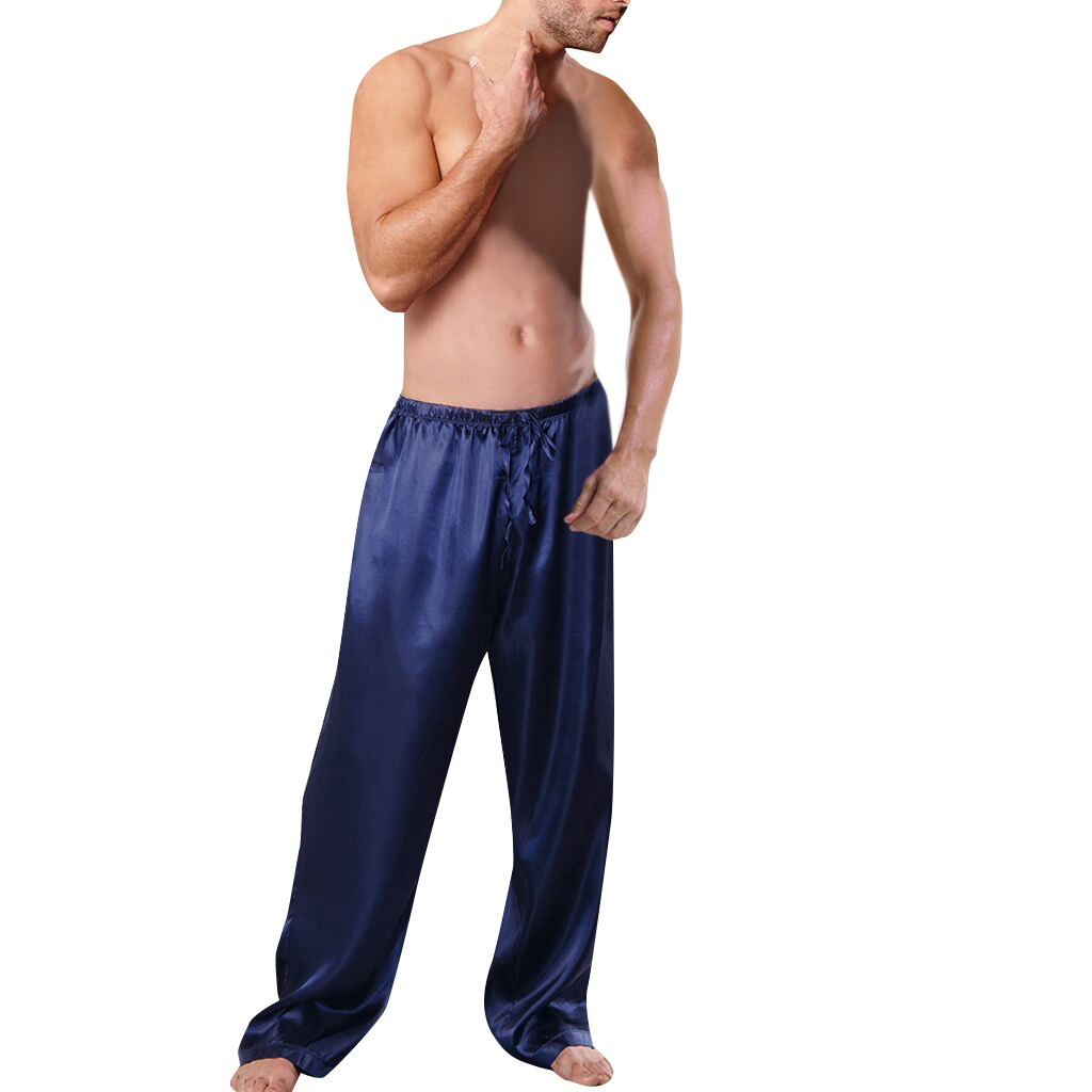 New 2020 Mens Lounge Pants Satin Men Sleepwear Lingerie Sleep Pants Daily Trousers Pijama Sexy Hombre Manunderwear Home Clothes