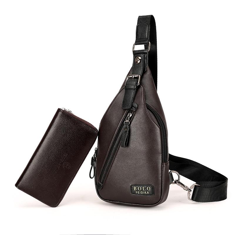 Ny Ankomst Högkvalitativ PU Läder Män Väska Män Bröstpaket - Väskor för bagage och resor - Foto 2