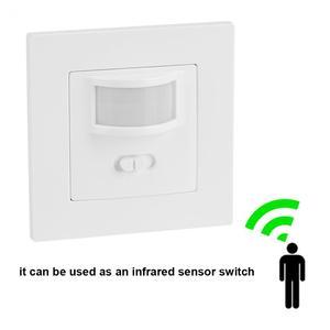 Image 2 - Infrarood PIR Bewegingssensor Schakelaar PVC Verzonken Muur Lamp Switch On/Off en PIR Schakelaar Gloeilamp Schakelaar assortiment