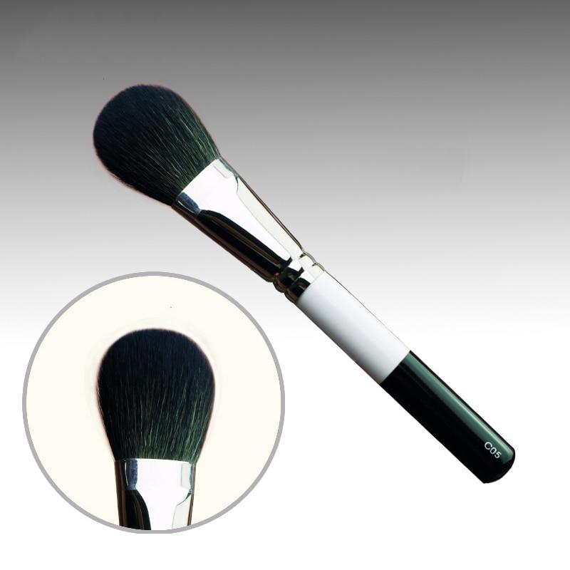C05 Professional Makeup Brushes Soft Sokouhou Goat Hair Blush Blusher Brush White Black Handle Cosmetic Tools Make Up Brush professional bullet style cosmetic make up foundation soft brush golden white