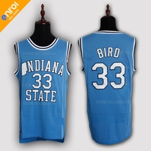 a512c9a8dc33 Larry Bird Jerseys Men Basketball Jersey 33  Indiana College High Quality  Sleeveless Throwback Free Shipping