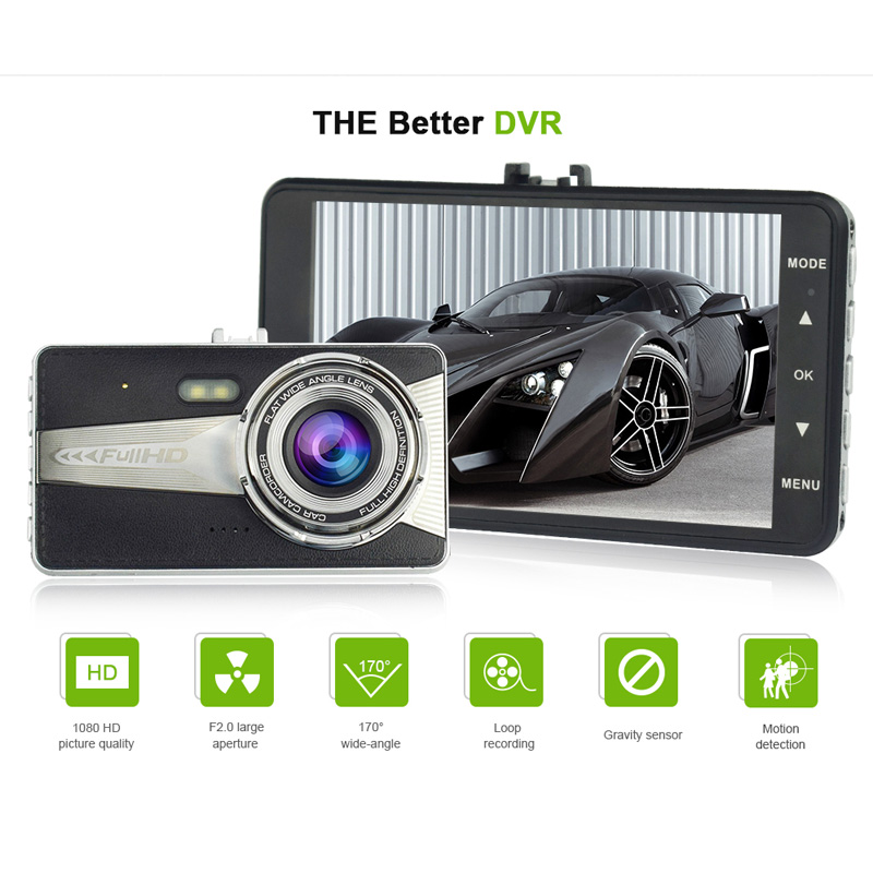 Famalon A9 car camera auto dvr camcorder cars dvrs A9S carcam dash cam Full HD 1080P parking recorder video registrator 4.0 inch