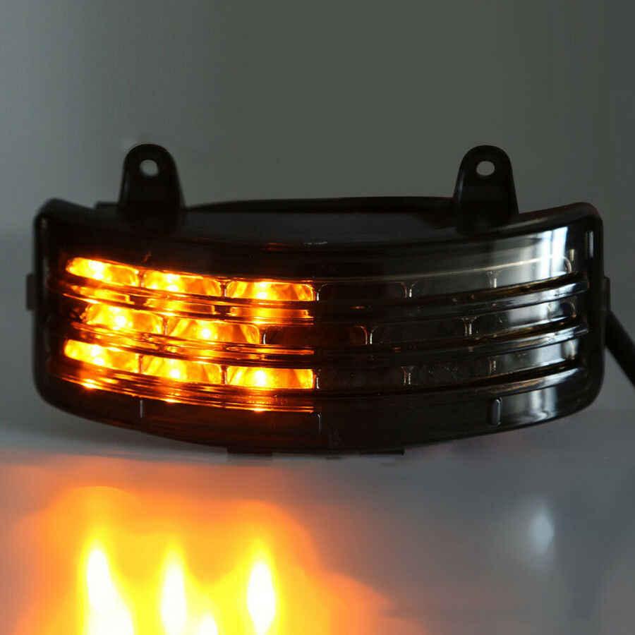Sepeda Motor Tri Bar LED Fender Belakang Rem Ekor Lampu Turn Sinyal Lampu Belakang untuk Harley Touring Street Glide Flhx fltrx Asap