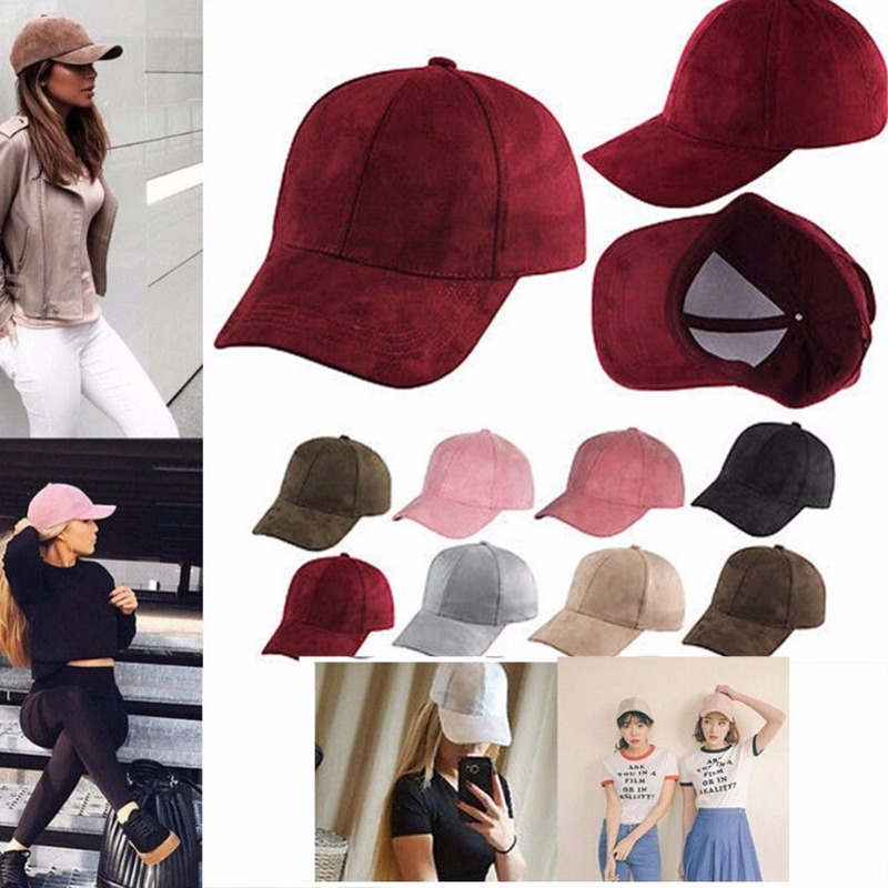 4f72cf46f13 2018 Women and Men Pink Soft Velvet Baseball Caps Adjustable Casual  Lustrously Snapback Golf Outdoor Travel Trucker Hat-in Baseball Caps from  Apparel ...