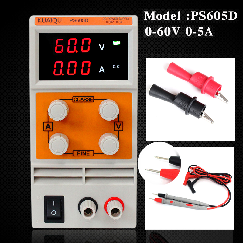 Double LED display voltage current high precision PS605D mini Adjustable Variable Portable Switching Power Supply sets