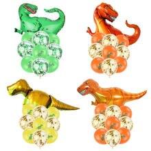 Динозавр день рождения динозавр фольги конфетти для воздушного